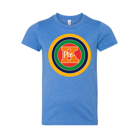 Pre-K YOUTH Primary Colors Target Shirt