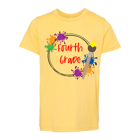 Fourth Grade YOUTH Splatter Paint Tee