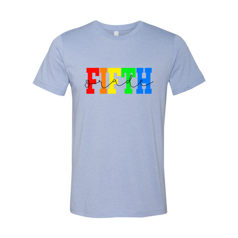 Fifth Grade Rainbow Tee