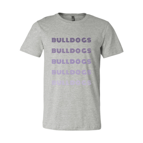 Bulldogs Retro Font Monochrome Soft Shirt