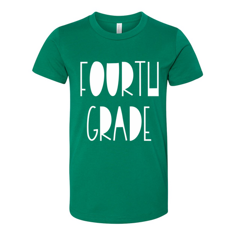 Fourth Grade YOUTH Funky Font Tee