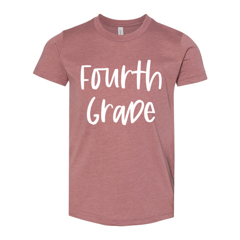 Fourth Grade YOUTH Script Tee