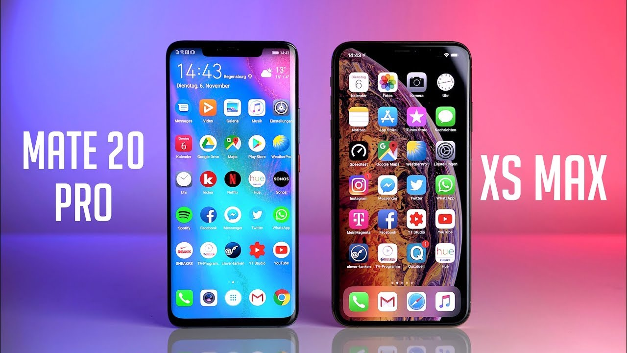 Which Is The Best: Huawei Mate 20 Pro Or iPhone XS Max? – Zendure