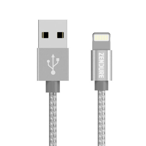 Apple-Certified Lightning Cable - 12 Inch Silver