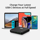 PRE-ORDER SuperPort 4: 100W USB-C Desktop Charger - Black, UK Cord