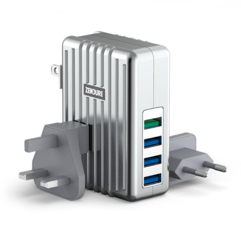 A-Series 4-Port USB High-Speed Wall Charger with QuickCharge 2.0