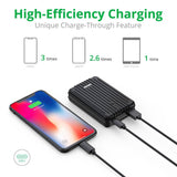 A3TC USB-C Portable Charger (10,000 mAh) - Black