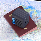 Black Passport Auto-Resetting Global Travel Adapter