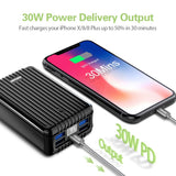 A8PD 26,800mAh Portable Charger with USB-C Input/Output - Black