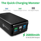 A8 QC Portable Charger (26,800 mAh) - Black