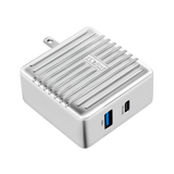 SuperPort 2: 57W Power Delivery Wall Charger - Silver