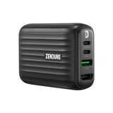 Pre-Order SuperHub: Card-Sized Charging, Data & Video Hub with Dual PD - Black AU
