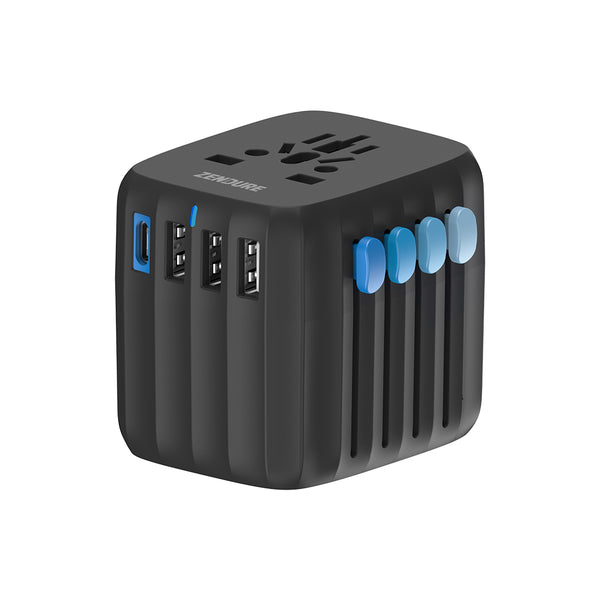 Passport GO 30W Global Travel Adapter - Black