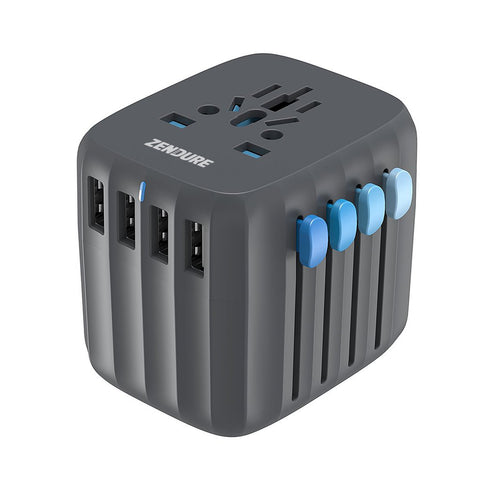 Passport Auto-Reset Global Travel Adapter - Schwarz