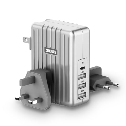 45W 4-Port USB-C PD Wall Charger - Silver