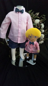 Finley Matching Shirt and Short Set - Pink