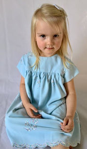 Smock Dress - Pale Blue