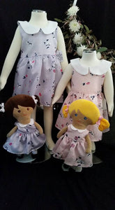 LAST CHANCE Bluebell Pink Dress and Doll set