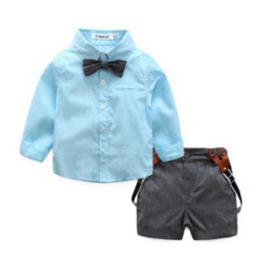 Finley Matching Shirt and Short Set - Blue