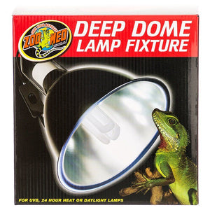 Zoo Med Deep Dome Lamp Fixture - Black