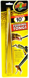 Zoo Med Feeding Tongs - Stainless Steel
