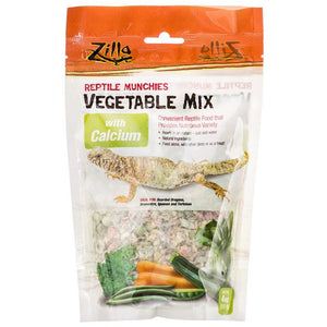 Zilla Reptile Munchies - Vegetable Mix with Calcium