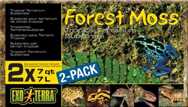 Exo Terra Forest Moss Tropical Terrarium Reptile Substrate