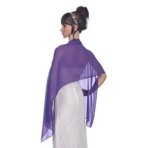 Tutu.vivi Chiffon Wedding Scarf Shawls Wraps and Pashmina for Prom Evening Party Custom Color Available