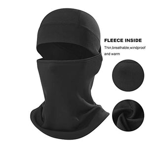 Omenex Winter Outdoor Windproof Thermal Fleece Half Face Mask Facemask Scarf Snowboard Snowmobile Snow Ski Sled Motorcycle Cycling Bike Hiking Skateboard (Long Neck Style)