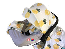Load image into Gallery viewer, 9pc Ultimate Set of Infant Car Seat Cover Canopy Headrest Blanket Hat Nursing Scarf, 25JE05
