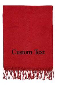 Unisex Customized Cashmere Feel Winter Solid Color Scarf - Special Occasion Holiday Personalized Gift