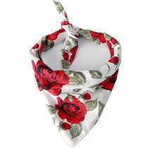 Load image into Gallery viewer, BingYELH Dog Bandana Bibs Pet Rose Print Scarf Triangle Head Scarfs Accessories Neckerchief for Small and Medium Dog