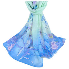 Load image into Gallery viewer, Women Soft Thin Chiffon Silk Animal Bird Printed Wrap Shawl Scarf Gifts Under 7 Dollars