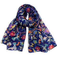 Load image into Gallery viewer, Ruanyi Spring, Summer And Autumn Fashion Animal Silk Scarf, Female Hummingbird, Sun Flower Print Scarf Women