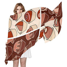 Load image into Gallery viewer, Women Silk Scarf Snake Says HI Personalized for Women Vacation Winter Decor