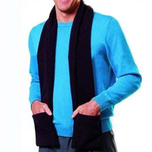 Allywit USB Heated Scarf-Powered Heated Neck Wrap for Men and Women as Warming Scarf with Pockets