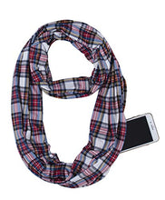 Load image into Gallery viewer, USAstyle Printed Women Infinity Scarf With Zipper Pocket or 2 Circle Scarves, Soft Stretchy Jersey