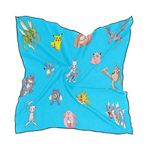 Load image into Gallery viewer, Silk Scarf Cute Sealife Square Headscarf 23 x 23 inches for Women