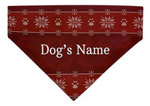 Load image into Gallery viewer, Personalized Gifts for Dogs Custom Name or Text Dog Christmas Outfit Dog Bandana Scarf for Dogs Bib