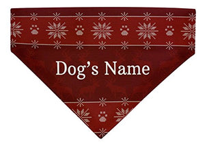 Personalized Gifts for Dogs Custom Name or Text Dog Christmas Outfit Dog Bandana Scarf for Dogs Bib