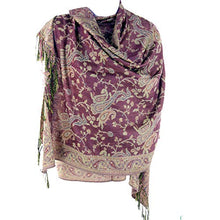 Load image into Gallery viewer, Silver Fever Pashmina - Jacquard Paisley Shawl - Stylish Scarf - Double Sided Wrap