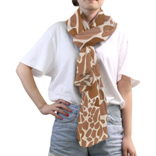 Load image into Gallery viewer, Silk Scarfs for Women Lightweight Fashion Scarves Shawl Wraps-Black Leopard Pattern