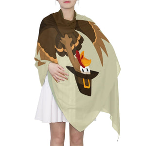 "Women's Scarf Silk Scarf Blanket Lightweight Scarves Fashion Neck Scarf Poncho with Funny Thanksgiving Turkey And Pumpkin Shawl Wrap 70""x 35"""