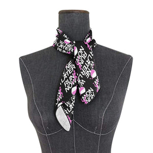 Running Custom Now Wine Bandana Square Polyester Satin Neck Head Scarf Scarves Set Kerchief