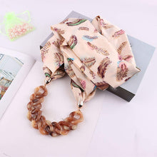 Load image into Gallery viewer, Loprt Satin Simulation Silk Scarf Chain Necklace Decoration Bib National Wind Ladies Clothing Accessories (Pink)