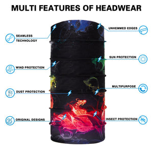 TUONROAD 3D Print Magic Headband Scarf Sports Headwear Headwrap Tube Mask Multifunction Seamless Bandanas Men Women