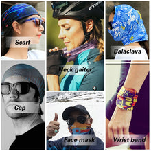 Load image into Gallery viewer, TUONROAD 3D Print Magic Headband Scarf Sports Headwear Headwrap Tube Mask Multifunction Seamless Bandanas Men Women