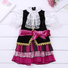 Load image into Gallery viewer, YiZYiF Little Pirate Costume Baby Girl Princess Bubble Sleeves Pirates Dress with Headscarf and Belt Set
