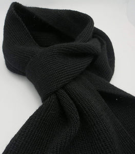 Handmade PUREST Alpaca Natural Fiber Scarf - Classic Black (CUSTOM MADE ORDER)
