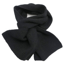 Load image into Gallery viewer, Handmade PUREST Alpaca Natural Fiber Scarf - Classic Black (CUSTOM MADE ORDER)